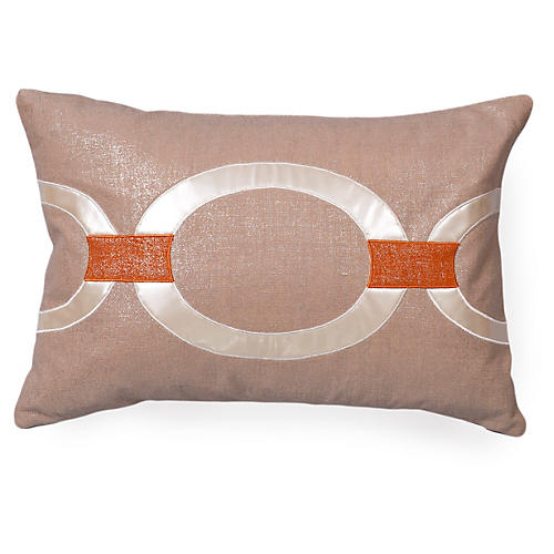 Hunter 16x24 Linen Pillow, Beige