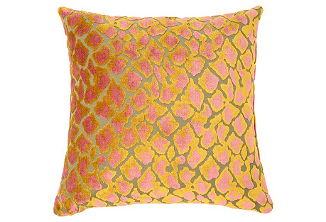 Kendrick 22x22 Velvet Pillow, Multi