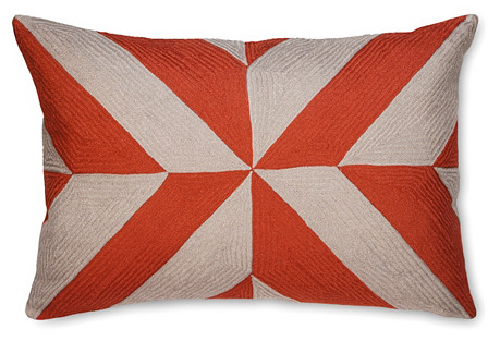 Leah 16x24 Linen Pillow, Coral