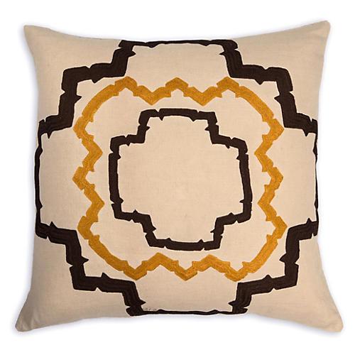 Walker 22x22 Linen Pillow. Stone