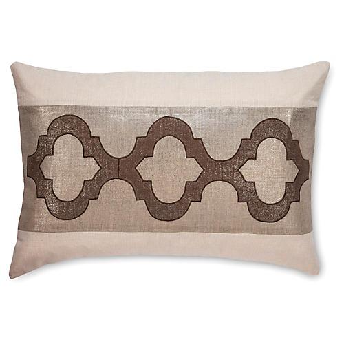 CeeCee 16x24 Linen Pillow, Stone