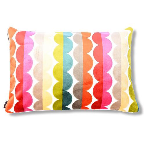 Grace 16x24 Velvet Pillow, Multi