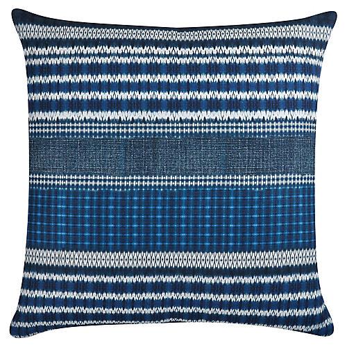 Carlisle 22x22 Linen Pillow, Indigo