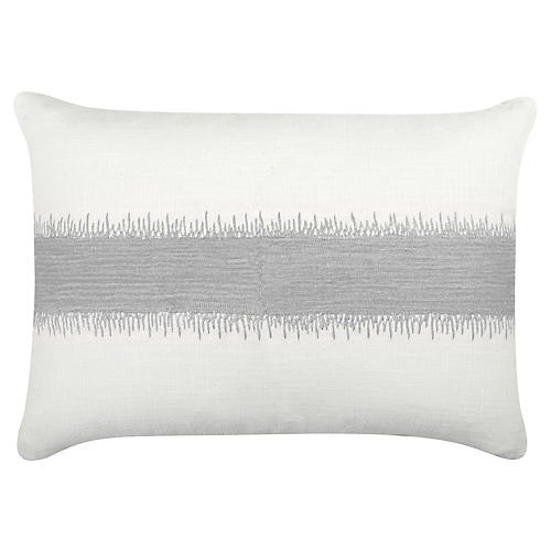 Caroline 20x14 Cotton Pillow, Silver