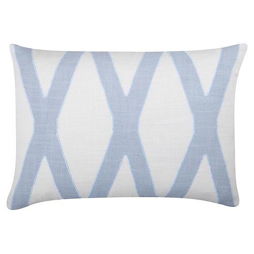 Dominick 20x14 Cotton Pillow, Pale Blue