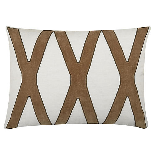 Dominick 20x14 Cotton Pillow, Toffee