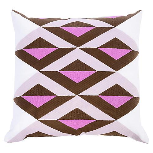 Ginny 22x22 Linen Pillow, Orchid