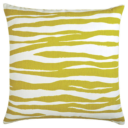 Hannah 22x22 Linen Pillow, Citrus