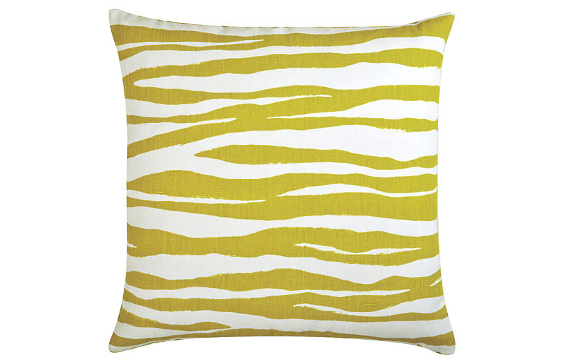 Hannah 22x22 Linen Pillow - Citrus - The Piper Collection