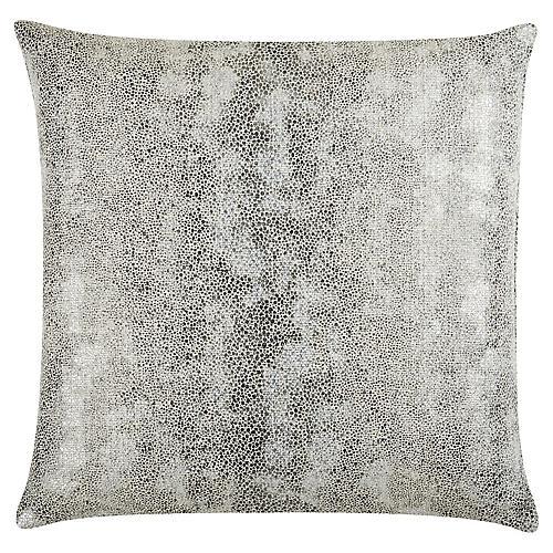 Miller 22x22 Linen Pillow, Silver