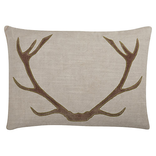 Vixen 20x14 Cotton Pillow, Chocolate