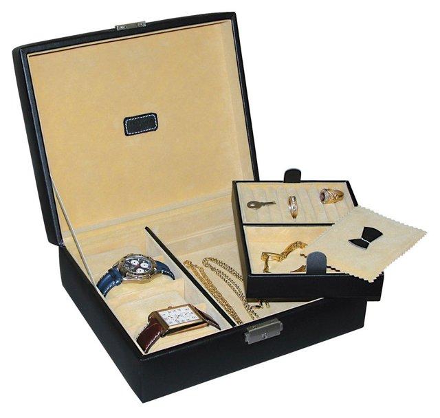 Leather Jewel Box, Black