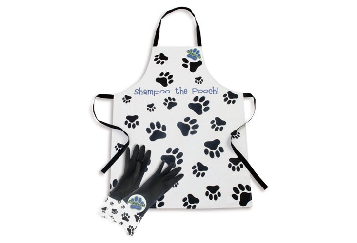 Spoiled Dog Apron/Glove Shampoo Set