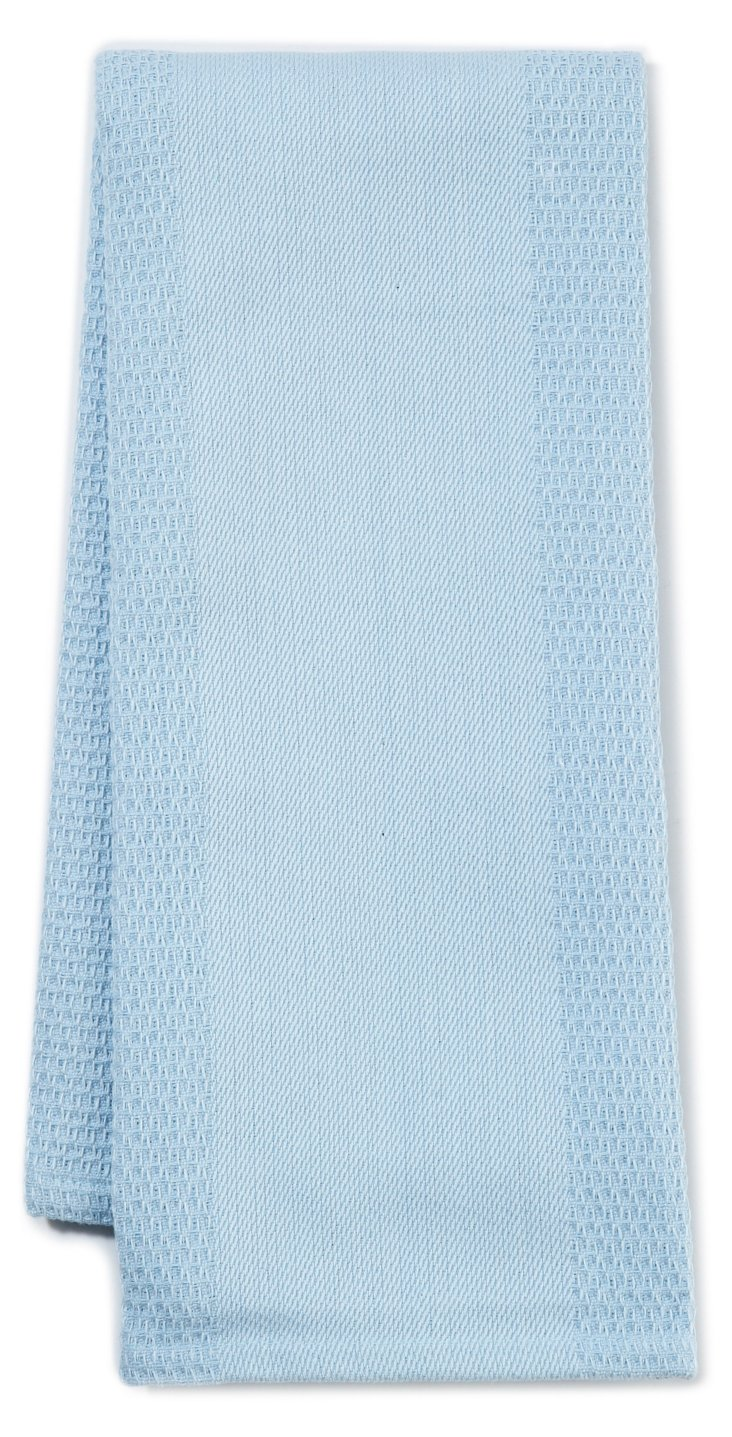 S/4 Organic Dish Towels, Blue Stone