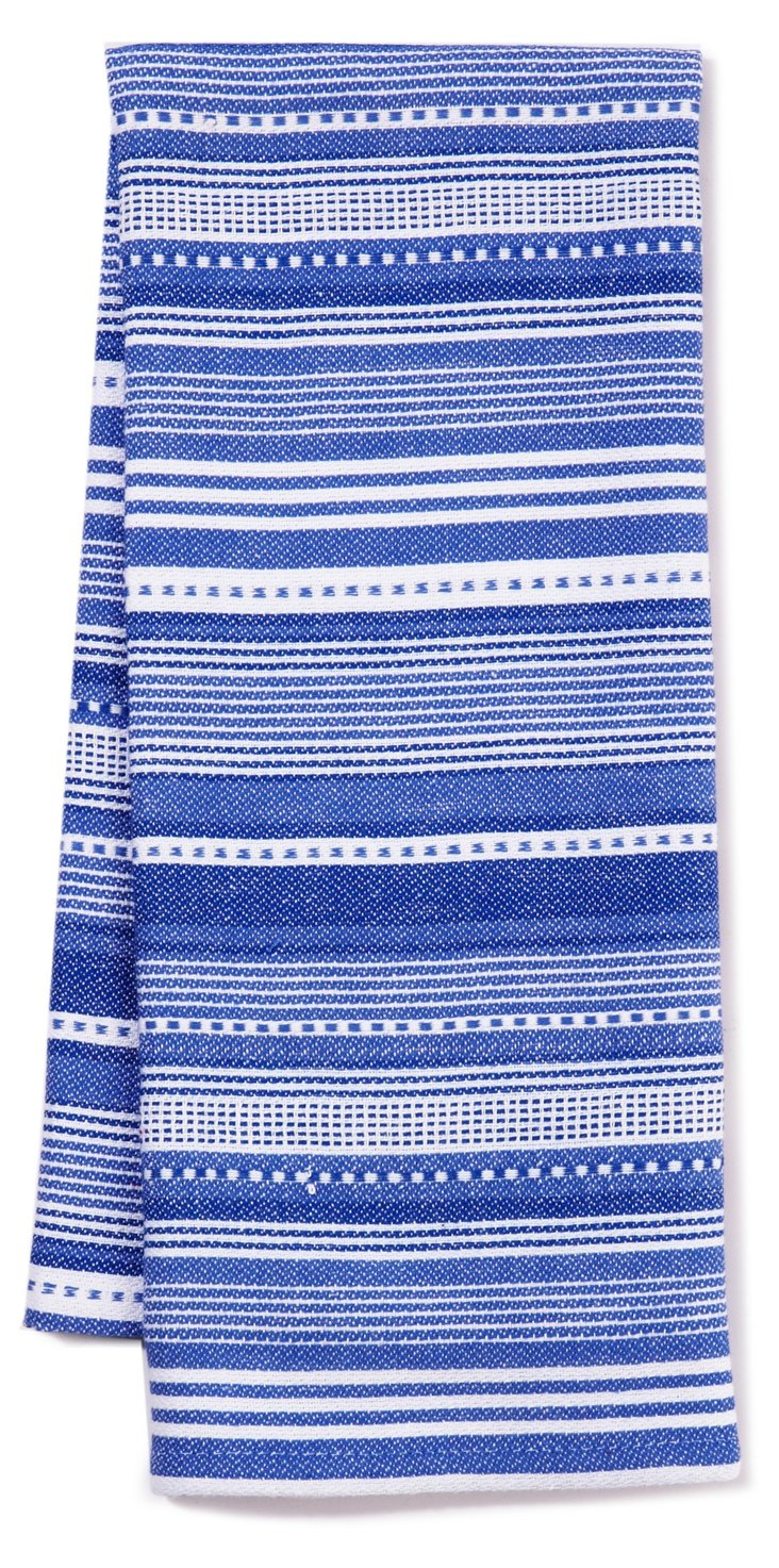 S/3 Stripe Dish Towels, Blueberry