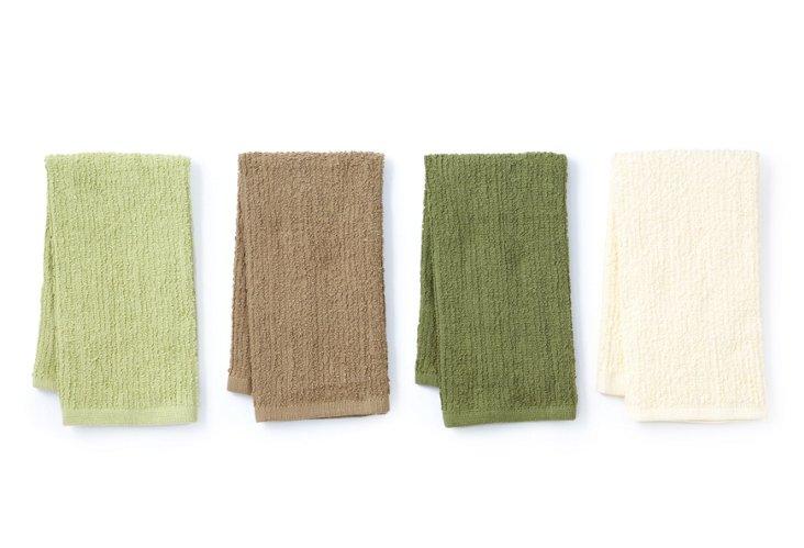 Set of 4 Barmop Towels, Natural