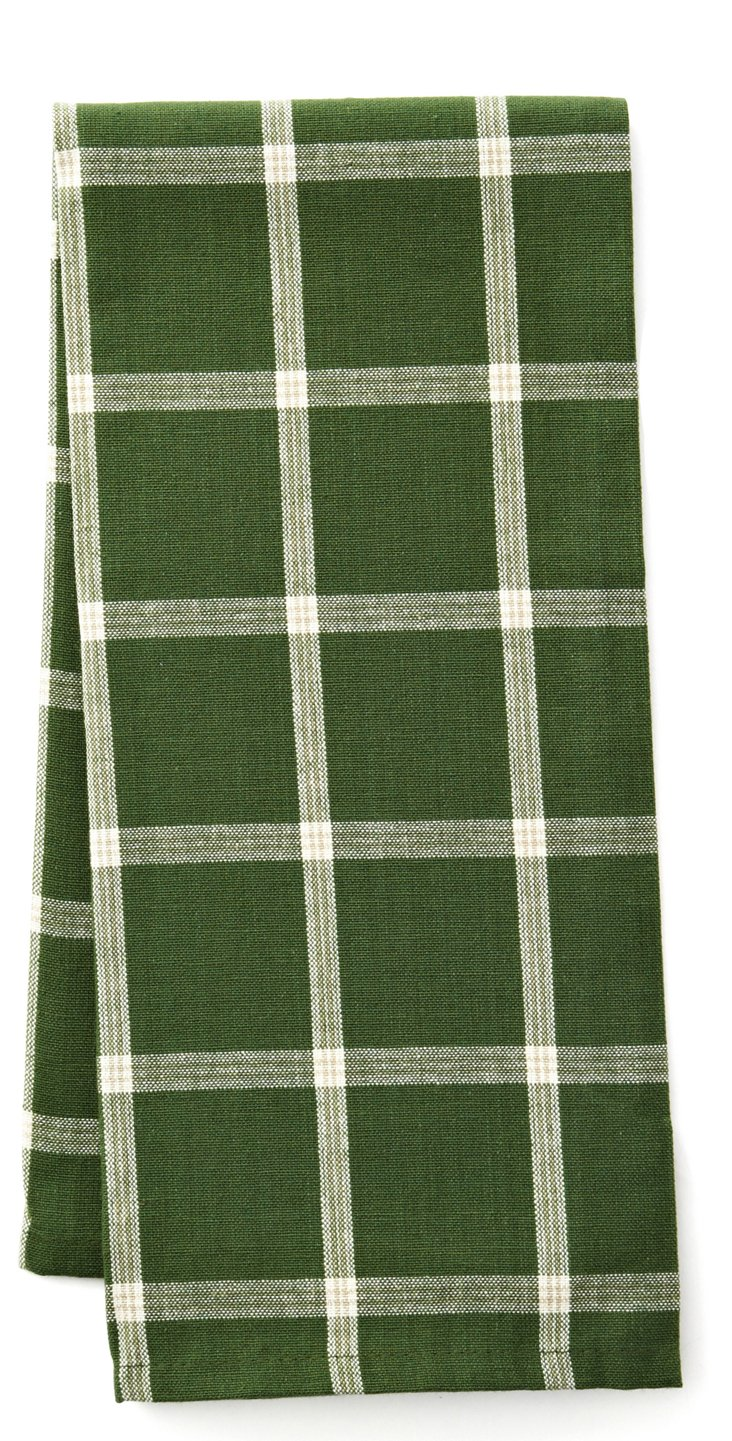S/4 Windowpane Towels, Vineyard