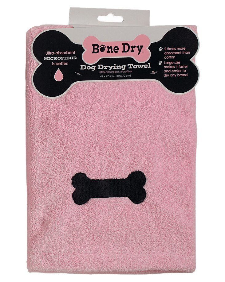 Embroidered Bone Bath Towel, Pink