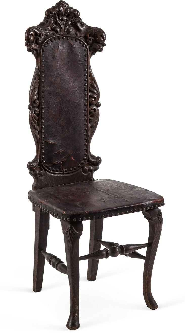 19th-C. Gothic-Style Chair
