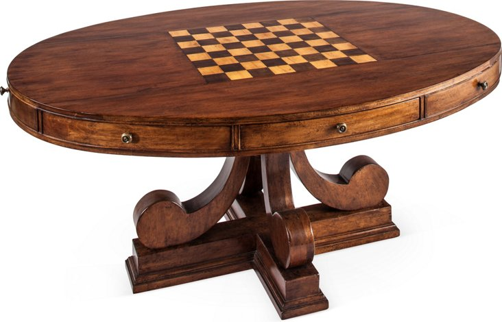 Oval Game Table