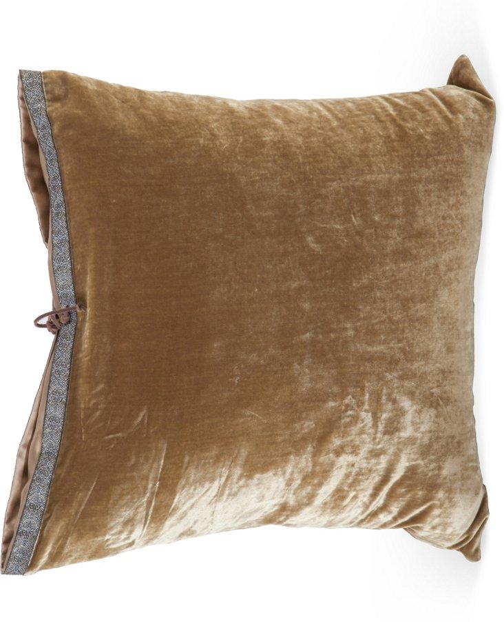 Gold & Lilac Throw Pillow