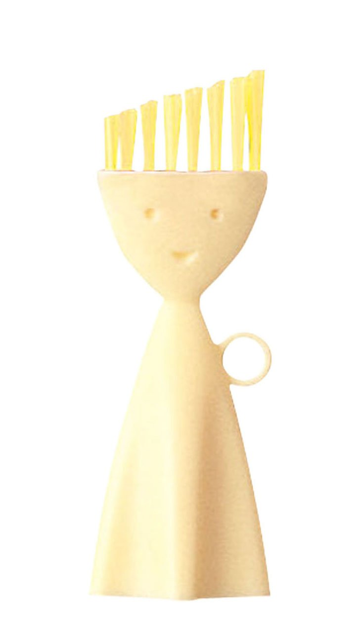 S/2 Corner Cleaning Brushes, Yellow
