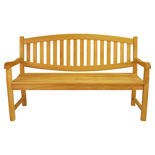 """Kingston 59"""" Garden Bench, Teak"""