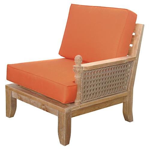 Luxe Left Modular, Orange