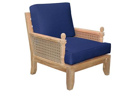 Luxe Armchair, Navy