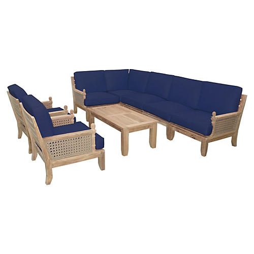 Luxe Modular Seating Collection, Navy