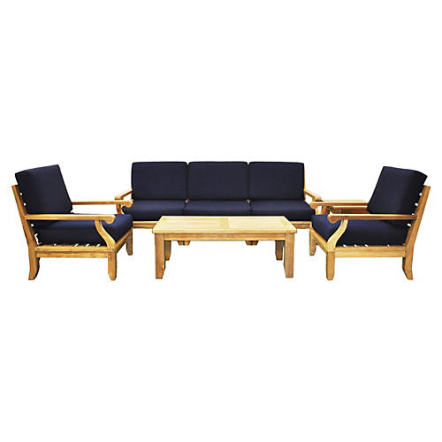 Lila Seating Set, Navy