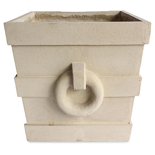 "24"" Aztec-Style Square Planter, Natural"