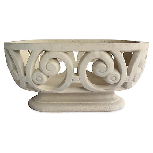 "13"" Milano Oval Planter, Natural"