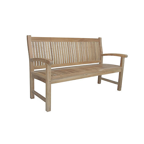 Sahara 3-Seater Bench, Natural