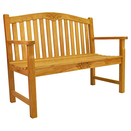 Rose Round Bench, Natural