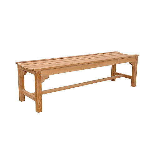 Hampton 3-Seater Backless Bench, Natural