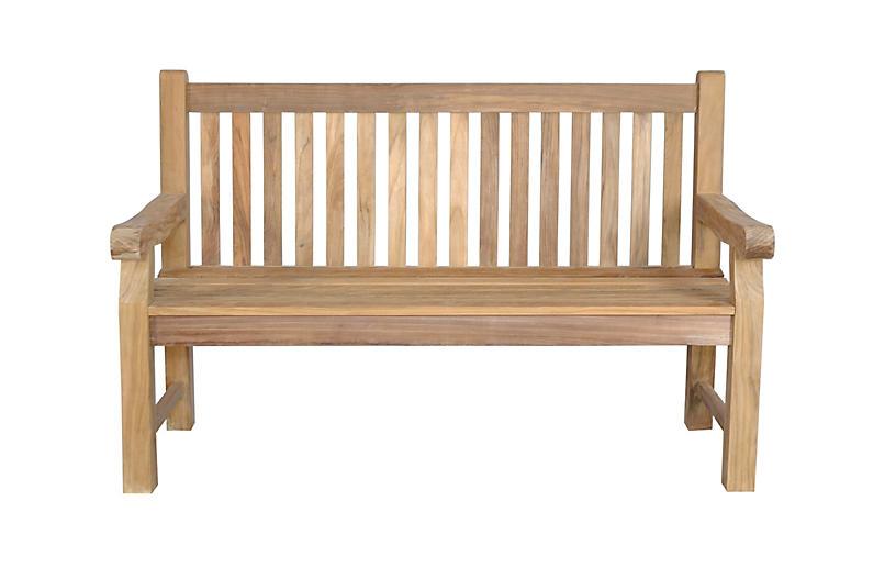 Devonshire bench natural alfresco dining outdoor for Devonshire home design garden city ny