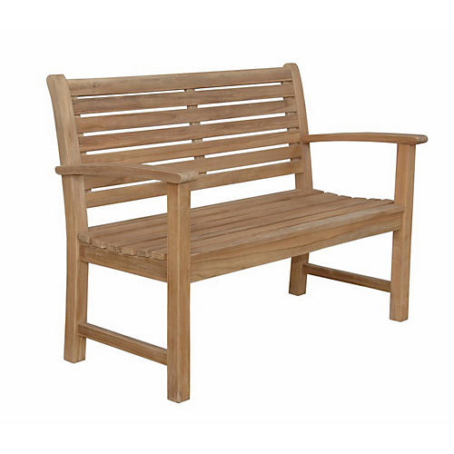 Victoria 2-Seater Bench, Natural