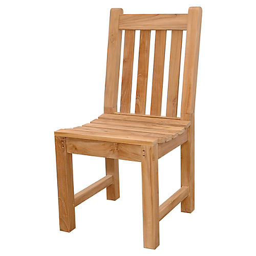 Classic Outdoor Side Chair, Natural