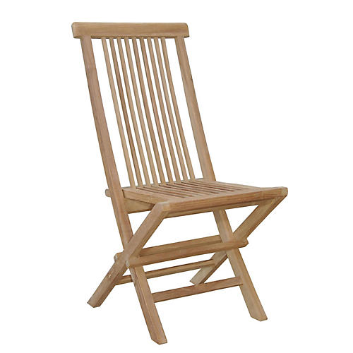 Bristol Folding Chair, Natural