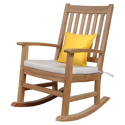 Palm Beach Rocking Armchair, Natural