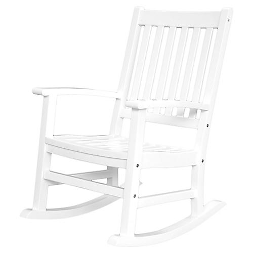 Barcelona Rocking Armchair, White