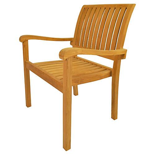 S/4 Aspen Stackable Armchair, Natural