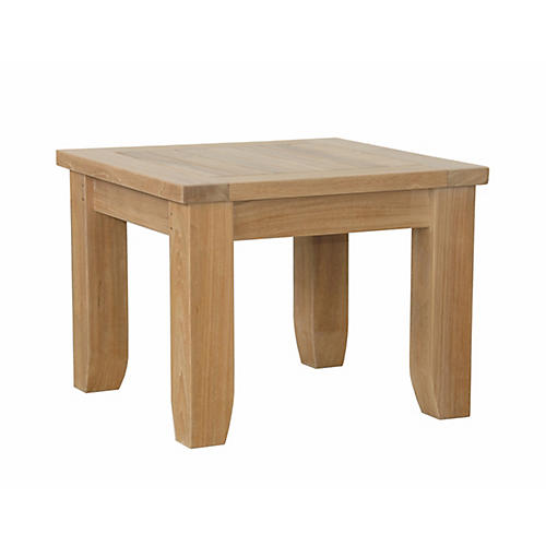 Luxe Square Side Table, Natural