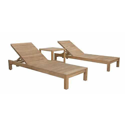 Asst. of 3 South Bay Lounge Set, Natural