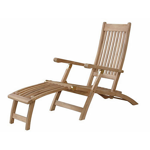Tropicana Steamer Chair, Natural