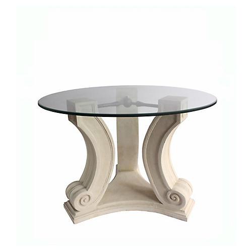 Regency Dining Table, Beige