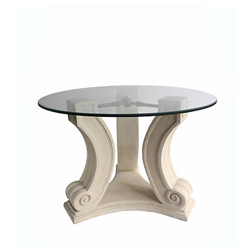 Regency Dining Table, Beige
