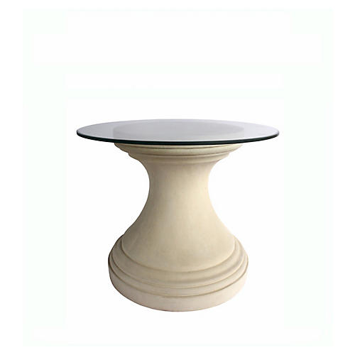 Fairbank Round Dining Table, Beige