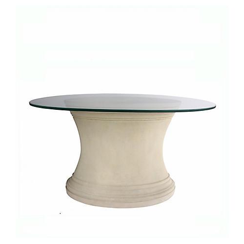 Fairbank Oval Dining Table, Beige